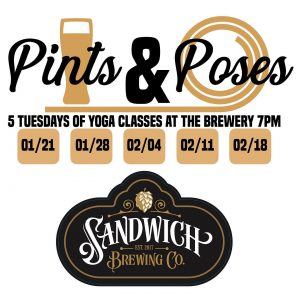 Pints + Poses Sandwich Brewing Co