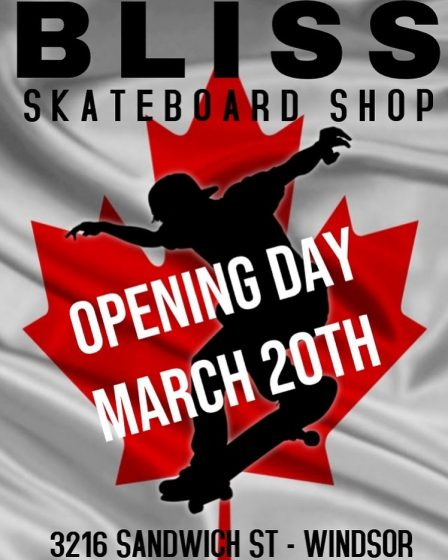 Bliss Skateboard Shop Windsor
